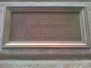Placa de l'Ateneu Barcelonès