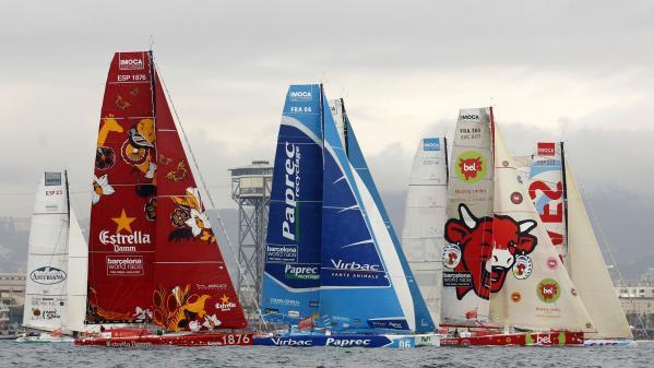 Alguns dels vaixells de la Barcelona World Race 2007-2008