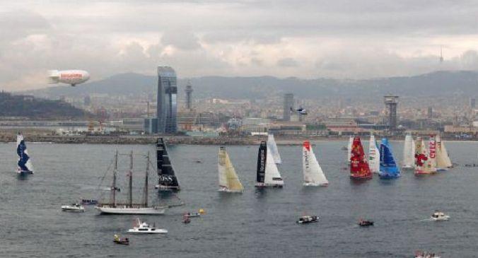 Sortida de la primera edició de la Barcelona World Race