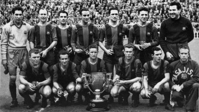 Equip del Barça dels anys 50