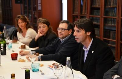 Jaume Mora durant la seva intervenció