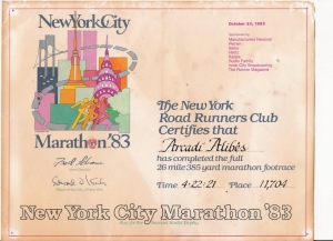 La primera marató de l'Arcadi (New York City 1983)